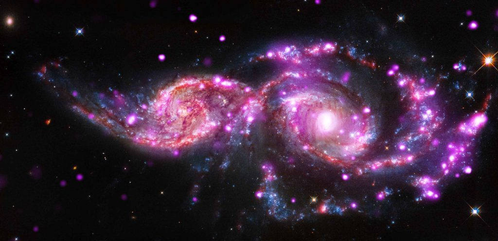 NGC 2207 and IC 2163: Galactic Get-Together has Impressive Light Display